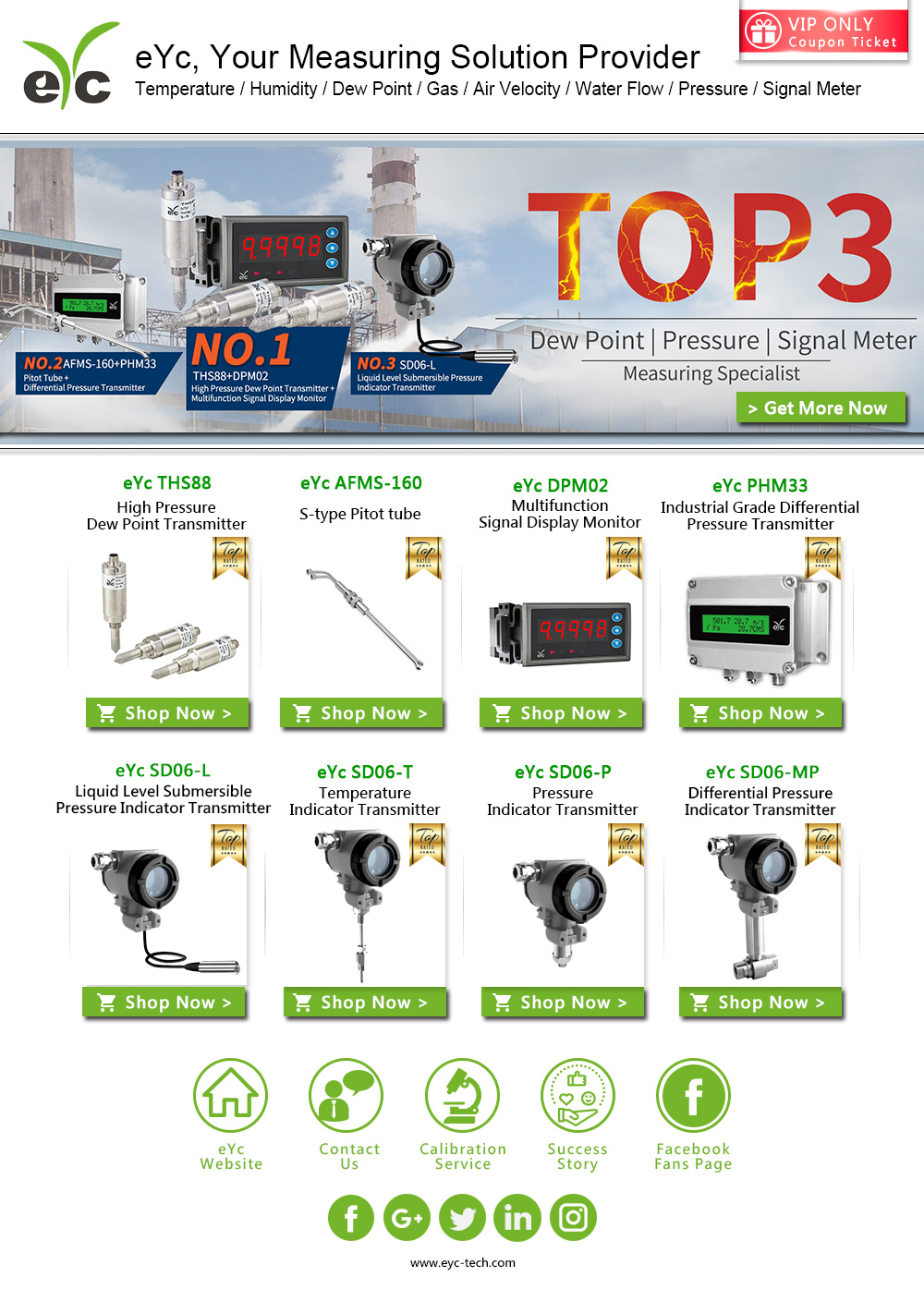 eYc The List Of The Top 3 Hot Selling Measuring Set - Dew Point, Pressure, and Indicator