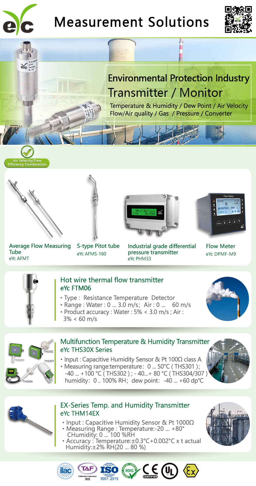 eYc Measurement solution for environmental protection industry
