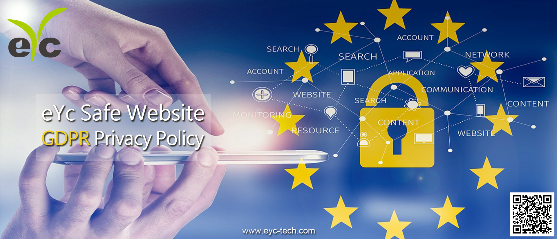 GDPR: eYc create a safe website to safeguard the privacy for customers